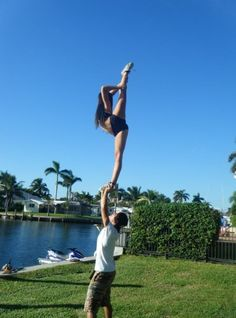 Straight leg scorpion and beach partner stunting... It's a classic