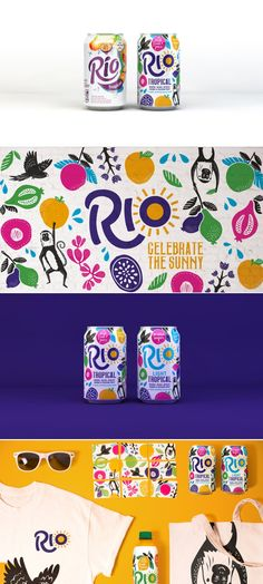 Rio Tropical Fruit Juice on Packaging of the World - Creative Package Design Gallery Graphic Design Bold Pattern Vibrant Colors - created on Web Design, Game Design, Logo Design, Brand Design, Flat Design, Icon Design, Packaging Box, Fruit Packaging, Brand Packaging