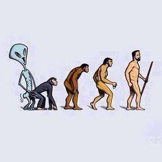 TEORIA DE LA EVOLUCION EXTERNA-De acuerdo con que la evolución humana se debe a la intervención de un tipo de diseño inteligente .Esta teoría desaprueba rotundamente las teorías de la evolución de las espécies de Darwin.Según la teoría intervencionista hubo algo que vino desde fuera y que no era propio de la Tierra que realizó una intervención en el paquete genético de las especies propias de la Tierra