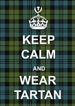 Keep Calm Tartan Poster - so cute! too bad it's a UK website