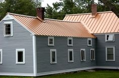 Currently coveting copper roofing. Recycled, green, and durable. Not to mention b-e-a-uuutiful!