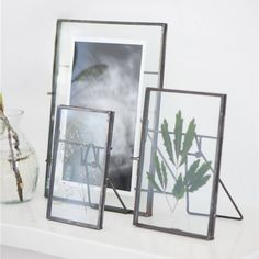 Standing Zinc Glass Photo Frame-Photo Frames-The Little House Shop Glass Photo Frames, Vintage Photo Frames, Wooden Picture Frames, Industrial Living, Industrial Style, Zinc Table, B 13, Lounge Decor, Frame It