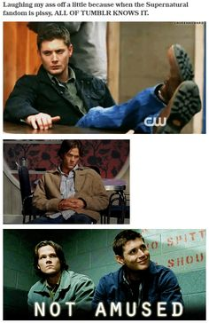 [gifset] - When Supernatural fandom is unhappy all of tumblr knows it. #s9finaleTraumaSupportGroup