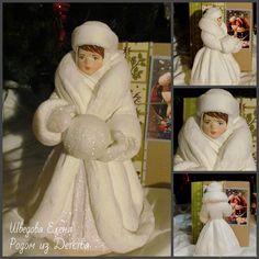Снегурочка Ретро большая 2 - из ваты – купить или заказать в интернет-магазине на Ярмарке Мастеров | РЕЗЕРВ!!!<br /> Большая Снегурочка под ёлочку в… Handmade Ornaments, Xmas Ornaments, Christmas Decorations, Ded Moroz, Cotton Crafts, Victorian Art, Vintage Toys, Holiday Crafts, Art Dolls