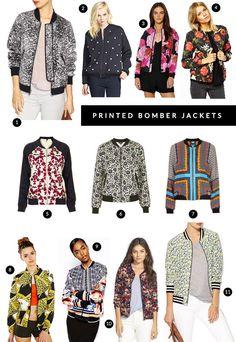 printed bomber jackets