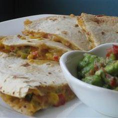 Bean Quesadillas (meatless meal)