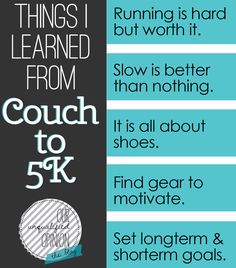 5 Things I Learned from Couch to motivation for many things Get Healthy, Healthy Life, Healthy Living, Health And Wellness, Health Fitness, Fitness Humor, I Work Out, Hard Work, Get In Shape