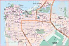 Туристическая карта Анапы с улицами