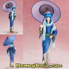 Japanese Anime VOCALOID Character KAITO 1/8 Statue Figure Toy Hanairogoromo Ver.
