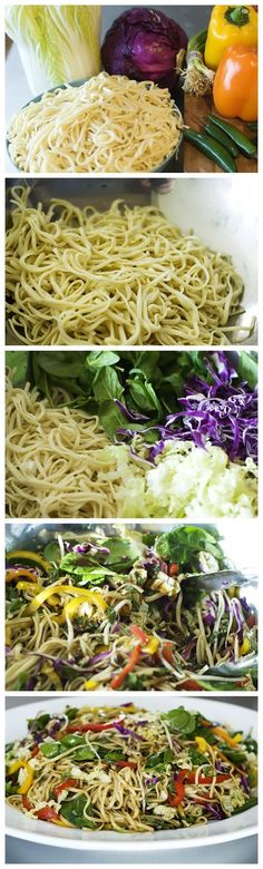 Asian Noodle Salad--the sauce looks amazing!