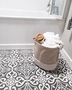 Our Devon stone floor tiles make a wonderful feature of any hallway or bathroom. Use the Devon stone black base tile as a border to create a foca. Hall Tiles, Tiles Uk, Tiled Hallway, Best Bathroom Flooring, Hallway Flooring, Kitchen Flooring, Tile Flooring, Floors, Ceramic Flooring