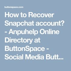 Recover Snapchat Account