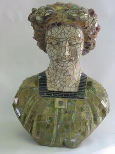 Mosaic Bust by mosaic artist CeCe Bode