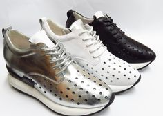 Breathable shoes leather punching female model  Buyerparty Inc.