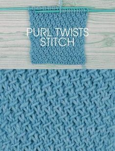 Knit Stitch Pattern with Free instructions - How to Knit the Purl Twists Stitch. 4 row, 2 stitch repeat.