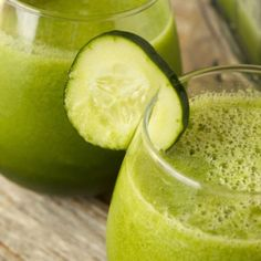 Cucumber, celery and lemon juice. For the full recipe, click the picture or visit RedOnline.co.uk