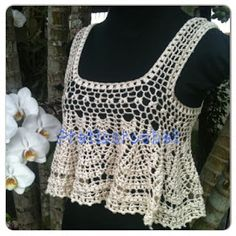 Best 12 Sent from my BlackBerry Shirt_tank top (make longer) Crochet Woman, Love Crochet, Crochet Lace, Crochet Bikini, Crochet Tank Tops, Finger Crochet, Crochet Motifs, Lace Tops, Tank Top Shirt