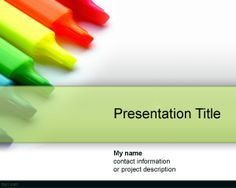 Color Drypen PowerPoint Template is a free color PowerPoint template for presentations that you can download to decorate your educational slides in PowerPoint