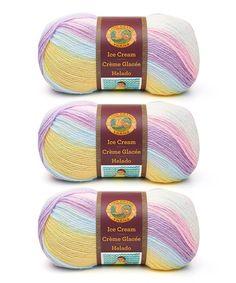 Love this Cotton Candy Ice Cream Yarn Skein - Set of Three on #zulily! #zulilyfinds