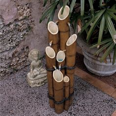 Design Toscano Resin Bamboo Sculptural Fountain & Reviews | Wayfair