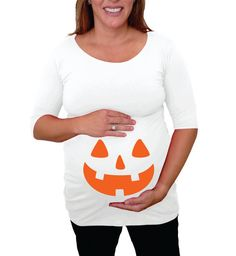 maternity halloween shirt jack o lantern by djammarmaternity