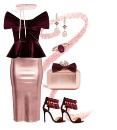 """Red & Pink"" by eda-edos on Polyvore featuring moda, Louis Leeman, Emilio De La Morena, Jimmy Choo, Forever 21 ve Saks Fifth Avenue"