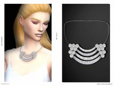 The Sims Resource: Maxi Coins Necklace by serenity-cc • Sims 4 Downloads