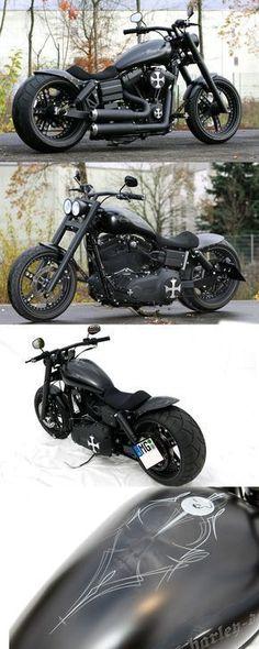 Thunderbike Dark Bob (customized Harley-Davidson Street Bob FXDB) dream bike  #harleydavidson #harleydavidsonstreetbob