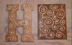 DIY Antiqued Foil Monograms – Something to be Savored Glue Crafts, Wood Crafts, Paper Crafts, Diy Crafts, Tin Foil Art, Aluminum Foil Art, Diy Letters, Letter A Crafts, Wood Letters