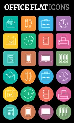 Free Office Flat Icons