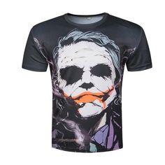 2018 Newest the Joker t shirt funny comics character joker Heath ledger  Women Men summer style outfit tees top full printing b9008b43b3cc