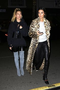 HAILEY BALDWIN and KENDALL JENNER Out in Beverly Hills  Hailey Baldwin Kendall Jenner
