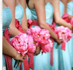 tiffany blue and pink.. dream wedding colors <3