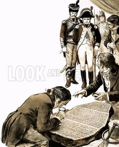 Napoleon's Egyptian Campaign, and the discovery of the Rosetta Stone. ~ (Image: lookandlearn) ~~ {cwl}