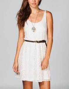 Amazon.com: FULL TILT Bar Back Lace Dress: Clothing