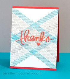 Plaid Stamping Video by Jennifer McGuire Ink Use a boarder stamp to make a plaid look!