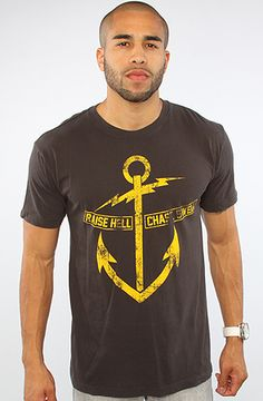 """""""Raise Hell, Chase Swell"""" The Hell Anchor Tee in Black"""