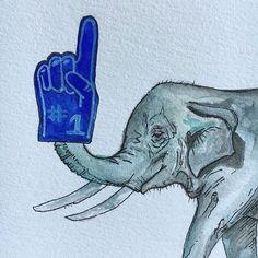 Watercolor elephant by Kaitlyn Johnson // kaitlynmjohnson.com // etsy.com/shop/kjohnsondsgn #handdrawn #kjohnsondgn #illustration #illustrator #artsy #art #artistsoninstagram #artist #handpainted #handmadeisbetter #handmade #watercolor #watercolorillustration #watercolorpainting #micronpen #foamfinger #elephant #elephantlove #wildlife #wildlifeart #animals #animalkingdom #numberonefan #rolltide #thepeoplescreatives #instagood #instagoodmyphoto #designinspiration