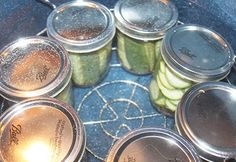 A delicious dill pickle recipe along with the secrets to making crisp pickles every time. Take those cucumbers and make something spectacular! Relish Recipes, Canning Recipes, Veggie Recipes, Appetizer Recipes, Yummy Recipes, Diet Recipes, Yummy Food, Crispy Dill Pickle Recipe, How To Make Crisps