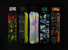 Sick boards, even cooler design work by illustrator, designer and printer Gilbert Van Citters