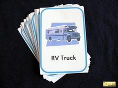 Car Scavenger Hunt Card Game