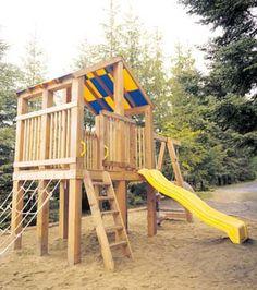 Un centre de jeu en cèdre Play Houses, Florence, Terrains, Construction, Backyard, Park, Gardens, Children Playground, Diy Ideas For Home