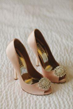 pink wedding shoes http://www.weddingchicks.com/2013/10/28/vintage-wedding/