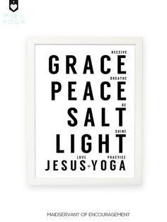Love Jesus. Practice Yoga 8x10 Christian by ChristianYogaClothes, $9.00