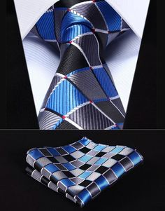 Pocket Square Styles, Tie And Pocket Square, Pocket Squares, Blue Grey, Gray, Wedding Ties, Party Wedding, Tie Styles, Long Ties