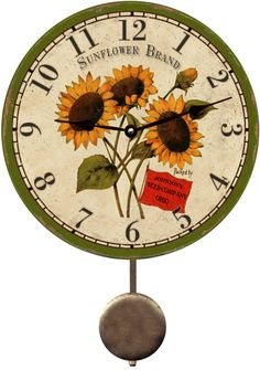 personalized-sunflower-wall-clock