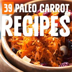 We all know carrots are good for the eyes, and it's been a lot easier to come up with good carrot recipes after looking at this list. Bugs Bunny's got nothing on me! Paleo Carrot Recipe, Best Paleo Recipes, Carrot Recipes, Vegetable Recipes, Delicious Recipes, Easy Recipes, Healthy Family Meals, Nutritious Meals, Paleo Dinner