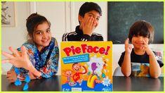 Pie Face showdown game challenge Play Doh, Kids Toys, Pie, Challenges, Eggs, Games, Children, Disney, Childhood Toys