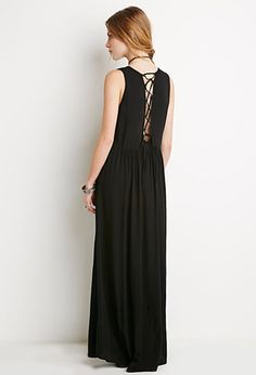 too flippin cute i cant even  Lace-Up Maxi Dress | Forever 21 - 2000155746