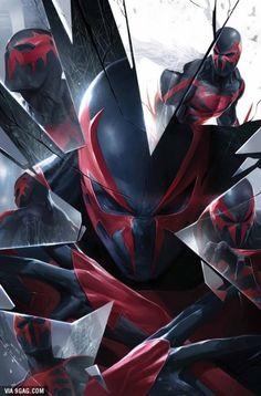 Spider-Man 2099. Parece ser del juego Spider-Man: Shattered Dimensions